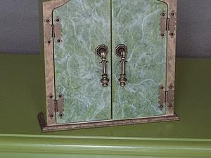 Ключница с мраморными дверцами. Ярмарка Мастеров - ручная работа, handmade.