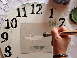 Как нарисовать циферблат без пластикового трафарета. Ярмарка Мастеров - ручная работа, handmade.