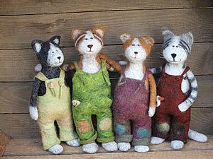 Забавные войлочные звери | Ярмарка Мастеров - ручная работа, handmade