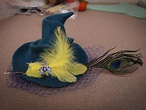 Валяем к Хэллоуину: ведьминская шапочка с метелкой. Часть 1. Ярмарка Мастеров - ручная работа, handmade.