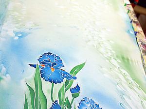 Холодный батик: роспись шелкового платка или шарфа | Ярмарка Мастеров - ручная работа, handmade
