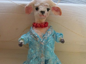 Мастер-класс: коза из ваты — елочная игрушка. Ярмарка Мастеров - ручная работа, handmade.