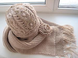 Зимняя сказка. Комплект из шапки и шарфа. | Ярмарка Мастеров - ручная работа, handmade