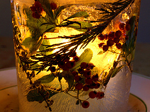 Ледяные подсвечники и яркие красивые ледяные шары, или Украшаем улицу и свой дворик | Ярмарка Мастеров - ручная работа, handmade
