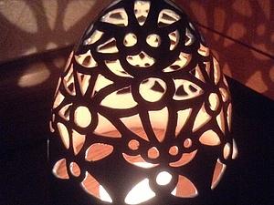 Подсвечник-колокольчик.Ажурная керамика | Ярмарка Мастеров - ручная работа, handmade