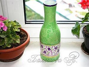 Волшебное превращение бутылки в вазу. Ярмарка Мастеров - ручная работа, handmade.