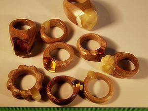 Делаем стильные кольца из дерева. Ярмарка Мастеров - ручная работа, handmade.
