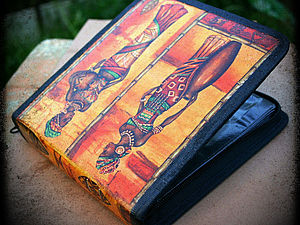 Декупаж на ткани: чехол для дисков - подарок за 5 минут, handmade