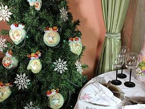 Идеи новогоднего декора в разных цветовых гаммах | Ярмарка Мастеров - ручная работа, handmade