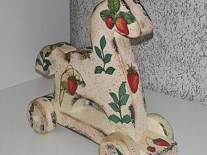 «Любимая игрушка» деревянная игрушка-лошадка, декупаж скидка!!! | Ярмарка Мастеров - ручная работа, handmade