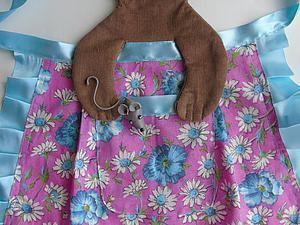 """""""Мамина помощница"""" — шьем  детский фартук с котенком и мышонком. Ярмарка Мастеров - ручная работа, handmade."""
