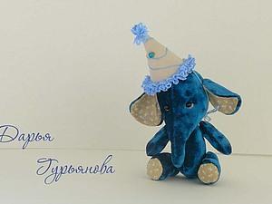 Синий слон! | Ярмарка Мастеров - ручная работа, handmade