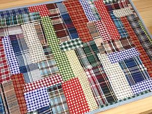 Салфетка на стол, или Как утилизировать обрезки тканей с пользой. Ярмарка Мастеров - ручная работа, handmade.