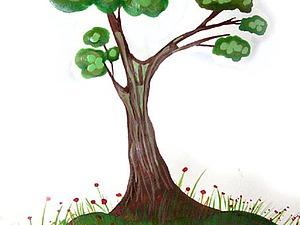 Рисуем с детьми: дерево на бумаге. Ярмарка Мастеров - ручная работа, handmade.