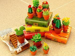 Лепим миниатюрные кактусы из полимерной глины. Ярмарка Мастеров - ручная работа, handmade.