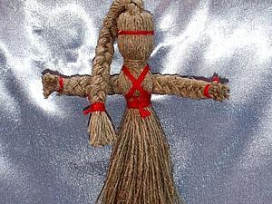 """Изготовление народной куклы-оберега """"На здоровье"""" из льняной веревки. Ярмарка Мастеров - ручная работа, handmade."""