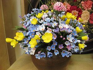 Цветы из японской глины | Ярмарка Мастеров - ручная работа, handmade