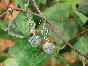 Новая коллекция серебряных сережек с кристаллами Сваровски! :) | Ярмарка Мастеров - ручная работа, handmade