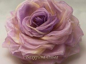 Цветок из ткани сделать