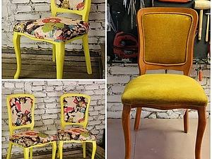 Как заменить обивку и покрасить стулья. Ярмарка Мастеров - ручная работа, handmade.
