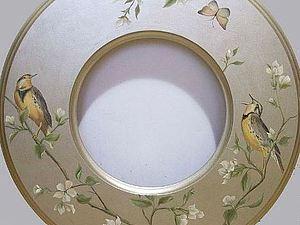 Художественная роспись рамы для зеркала   Ярмарка Мастеров - ручная работа, handmade
