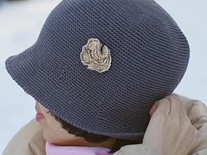 Больше фото серой шляпки Маленькая Роза | Ярмарка Мастеров - ручная работа, handmade