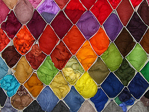 Как я  храню  шерсть (текстильная полка для шерсти). Ярмарка Мастеров - ручная работа, handmade.