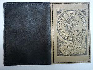 Мастер - класс кожаная обложка для паспорта с выжиганием.. Ярмарка Мастеров - ручная работа, handmade.