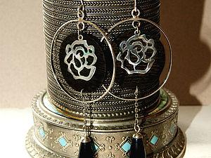 Создание вечерних серег с медальонами из дерева 1часть | Ярмарка Мастеров - ручная работа, handmade