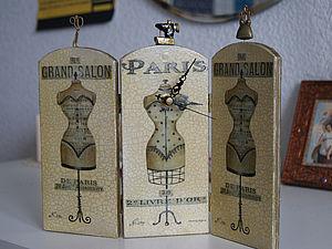 """Интерьерные часы """"Модный салон"""". Ярмарка Мастеров - ручная работа, handmade."""