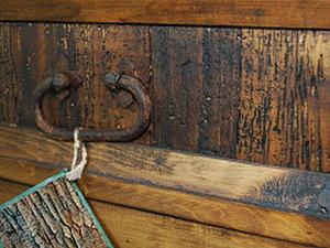 Декор мебели в стиле Прованс, Кантри.  Эффект подпаленной древесины с жучком   Ярмарка Мастеров - ручная работа, handmade