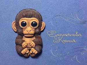 обезьянка из глины фото и рисунки