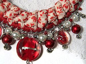 Делаем оригинальное вязаное колье. Ярмарка Мастеров - ручная работа, handmade.