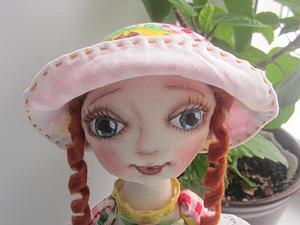 Шьем шляпку для текстильной куклы. Ярмарка Мастеров - ручная работа, handmade.