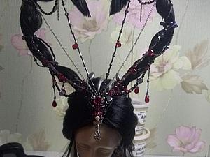 Делаем парик для куклы-колдуньи. Ярмарка Мастеров - ручная работа, handmade.