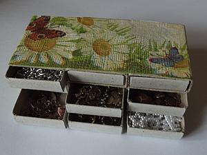 Контейнер -шкатулка из спичечных коробков ( простая). Ярмарка Мастеров - ручная работа, handmade.