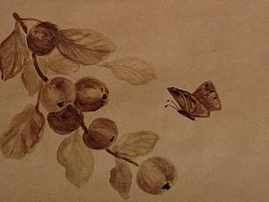Видео мастер-класс по кофейной росписи крафт-конверта | Ярмарка Мастеров - ручная работа, handmade