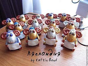 барашки на новый год с персональным пожеланием:)   Ярмарка Мастеров - ручная работа, handmade