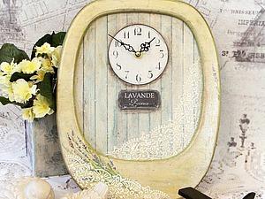 Делаем «Часы с лавандой» для украшения интерьера. Ярмарка Мастеров - ручная работа, handmade.
