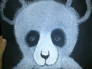 «Сонная панда»: рисуем пастелью. Ярмарка Мастеров - ручная работа, handmade.
