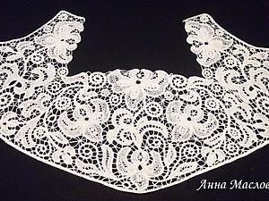 Элемент свадебного платья в технике румынского кружева.. Ярмарка Мастеров - ручная работа, handmade.
