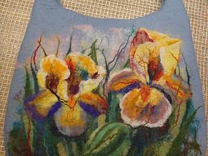 Мастер класс Валяная сумка с акварельным рисунком. | Ярмарка Мастеров - ручная работа, handmade