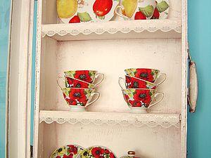 Шкаф-витрина из старого чемодана. Ярмарка Мастеров - ручная работа, handmade.