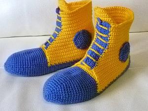 Тёплые носочки - для папы и сыночка | Ярмарка Мастеров - ручная работа, handmade