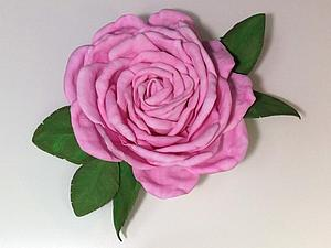 Роза из фоамирана. Мастер-класс | Ярмарка Мастеров - ручная работа, handmade