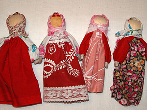 Славянская кукла на ложке, handmade