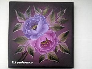 Розы в Кемеровской росписи. Ярмарка Мастеров - ручная работа, handmade.