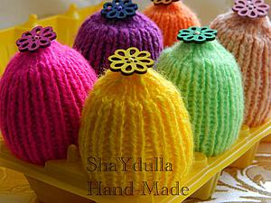 Вязаные шапочки на пасхальные яйца. Ярмарка Мастеров - ручная работа, handmade.