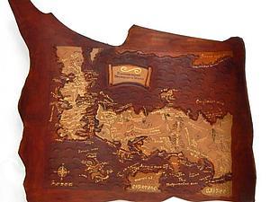 Мастер-класс для любителей Игры Престолов: кожаная карта Вестероса и Эсосса. Ярмарка Мастеров - ручная работа, handmade.