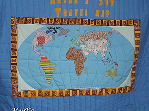 Как я шила карту мира. Мастер-класс, часть 2.. Ярмарка Мастеров - ручная работа, handmade.